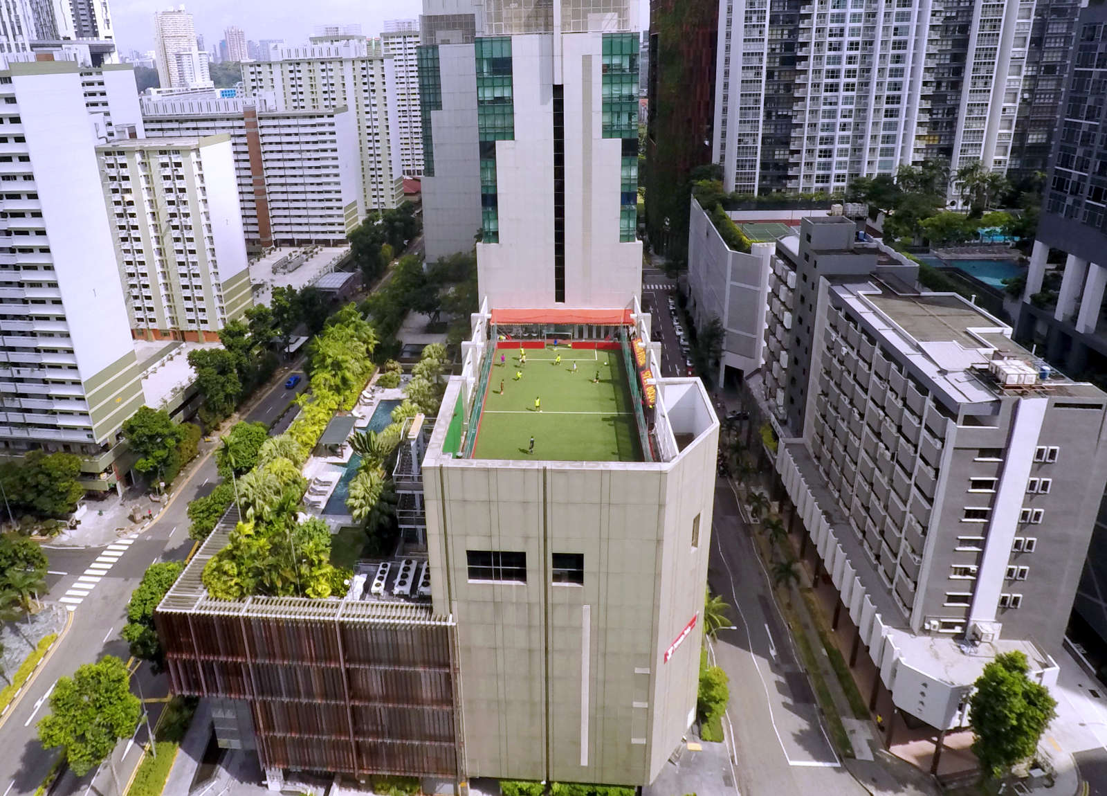 Rooftop Soccer - Mini-Pitch on a rooftop