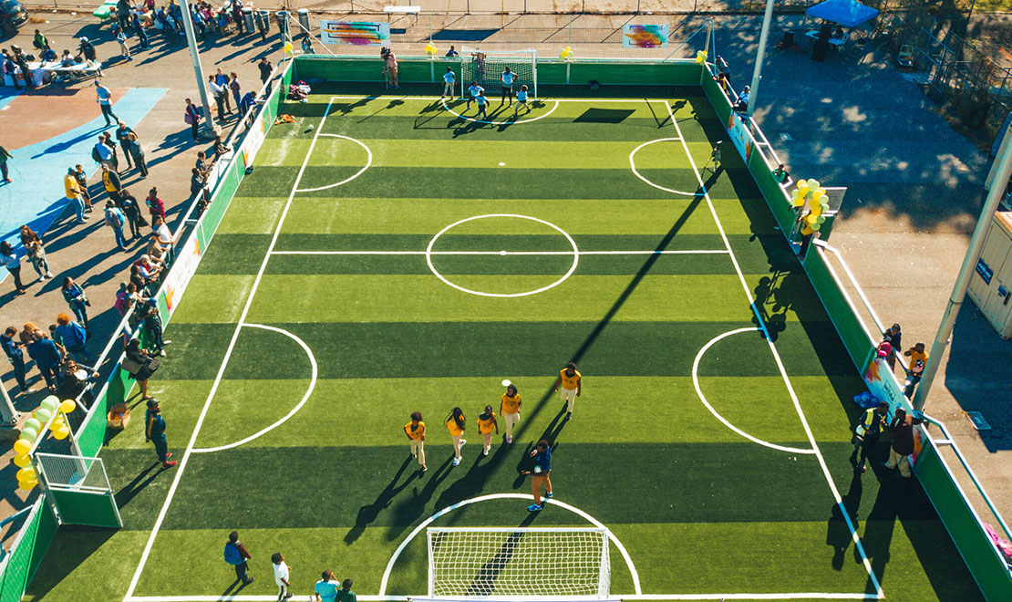 More than a place to play - New Soccer Mini-Pitch for the Tanner Duckrey School