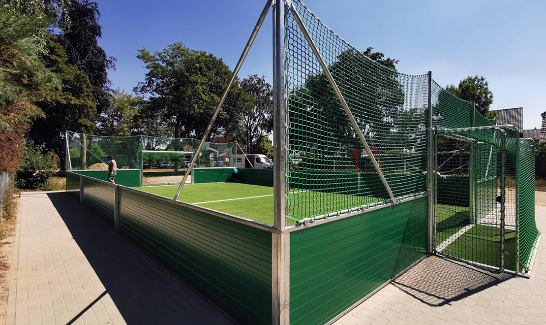 Soccer Mini Pitch Installed on Playground