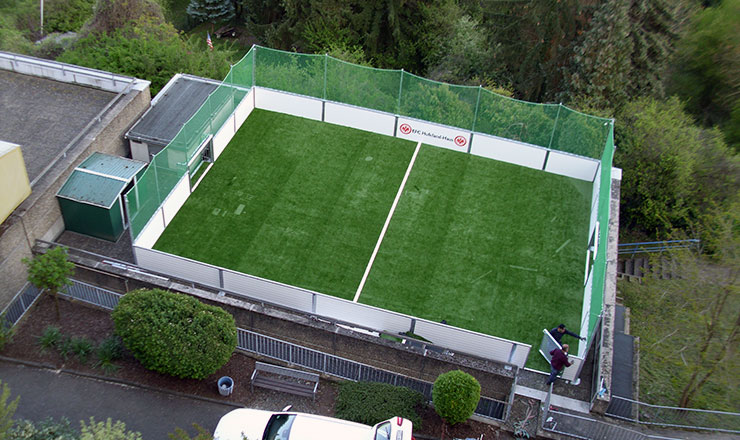 Soccer Mini-Pitch on rooftop of the Hufeland-House